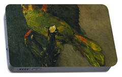 The Green Parrot Portable Battery Charger by Vincent Van Gogh