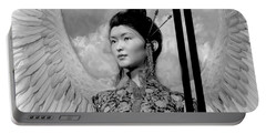 Portable Battery Charger featuring the painting The Guardian by Suzanne Silvir