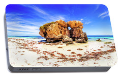 Portable Battery Charger featuring the photograph The Sentry, Two Rocks by Dave Catley
