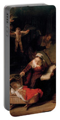 The Holy Family With Angels Portable Battery Charger
