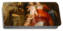 The Holy Family With Saints Francis And Anne And The Infant Saint John The Baptist Portable Battery Charger by Peter Paul Rubens