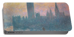 The Houses Of Parliament  Sunset Portable Battery Charger