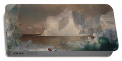 The Icebergs Portable Battery Charger by Frederic Edwin Church