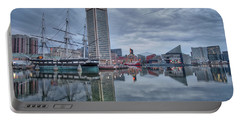 Portable Battery Charger featuring the photograph The Inner Harbor On A Sunday Cloudy Morning by Mark Dodd