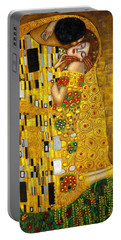 The Kiss Portable Battery Charger by Klimt