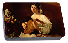 The Lute-player Portable Battery Charger by Caravaggio