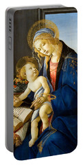 The Madonna Of The Book Portable Battery Charger