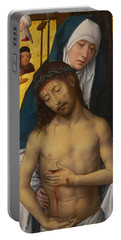 The Man Of Sorrows In The Arms Of The Virgin Portable Battery Charger