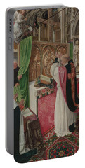 The Mass Of Saint Giles Portable Battery Charger by Master of Saint Giles