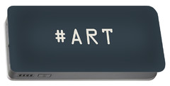 The Meaning Of Art - Hashtag Portable Battery Charger