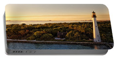 Portable Battery Charger featuring the photograph The Miami Lighthouse by Lars Lentz