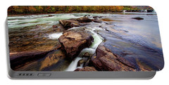 The New River At Sandstone Falls Portable Battery Charger