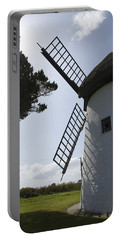 Portable Battery Charger featuring the photograph The Old Irish Windmill by Ian Middleton