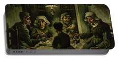 The Potato Eaters, 1885 Portable Battery Charger by Vincent Van Gogh