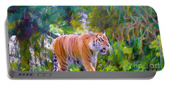 Portable Battery Charger featuring the painting The  Prowler by Judy Kay