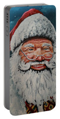 Portable Battery Charger featuring the painting The Real Santa by James Guentner