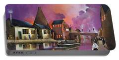 Portable Battery Charger featuring the painting The Red House Cone, Wordsley by Ken Wood