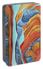 Portable Battery Charger featuring the painting The Rocks Cried Out, Zion by Erin Fickert-Rowland