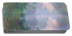 The Seine At Giverny, Morning Mists Portable Battery Charger