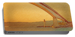 Portable Battery Charger featuring the digital art The Skye Bridge And Kyleakin Lighthouse by Anthony Murphy