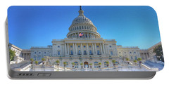 The Us Capitol Building - Washington D.c. Portable Battery Charger