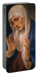 The Virgin Dolorosa With Her Hands Apart Portable Battery Charger