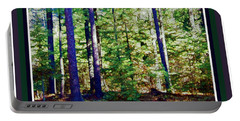 Portable Battery Charger featuring the photograph The Woods by Shirley Moravec