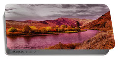 Portable Battery Charger featuring the photograph The Yakima River by Jeff Swan