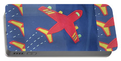 Portable Battery Charger featuring the digital art Theme Aviation Aeroplanes Aircraft Travel Holidays Christmas Birthday Festival Gifts Tshirts Pillows by Navin Joshi