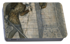 Theseus And The Minotaur In The Labyrinth Portable Battery Charger by Edward Burne-Jones