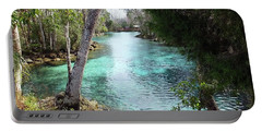 View From Spring 3 To Spring 2 At Three Sisters Springs Portable Battery Charger