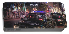 Portable Battery Charger featuring the photograph Tokyo Taxis, Japan by Perry Rodriguez
