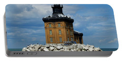 Toledo Harbor Lighthouse Portable Battery Charger by Michiale Schneider