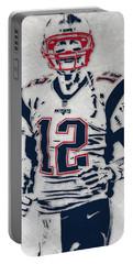 Tom Brady New England Patriots Pixel Art 5 Portable Battery Charger