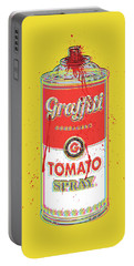 Tomato Spray Can Portable Battery Charger by Gary Grayson