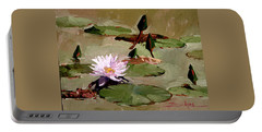 Tomorrow's Blooms- Water Lilies Portable Battery Charger