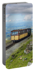 Train To Snowdon Portable Battery Charger by Ian Mitchell