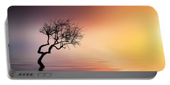 Tree At Lake Portable Battery Charger by Bess Hamiti