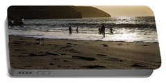 Portable Battery Charger featuring the photograph Photographs Of Cornwall Trevellas Cove Cornwall by Brian Roscorla