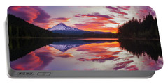 Portable Battery Charger featuring the photograph Trillium Lake Sunrise by Darren White
