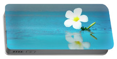 Tropical Flower On The Beach Portable Battery Charger