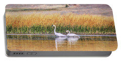Tranquil Trumpeter Swans Portable Battery Charger