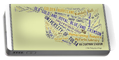 Tu Word Art University Of Tulsa Portable Battery Charger