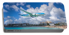 Tui Airlines Netherlands Landing At St. Maarten Airport. Portable Battery Charger