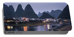 Twilight Over The Lijang River In Yangshuo Portable Battery Charger