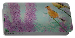 Two Chickadees Portable Battery Charger