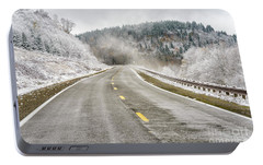 Portable Battery Charger featuring the photograph Unexpected Autumn Snow Highland Scenic Highway by Thomas R Fletcher