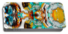 Portable Battery Charger featuring the digital art Untitled Series 992.042212 -c by Kris Haas