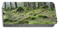Portable Battery Charger featuring the photograph Untouched Old Forest by Kennerth and Birgitta Kullman