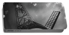 Unusual View Of Windmill - St Annes - England Portable Battery Charger